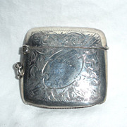 English Sterling Silver Match Safe, circa 1922