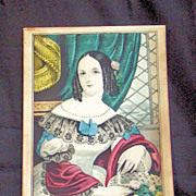 Mary a Colored Lithograph by Nathaniel Currier, C. Mid 19th Century