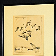 Migrating Geese by Frank W. Benson ca. 1916