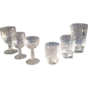 REDUCED Ninety Nine Piece Set of Antique Crystal Glassware made by Stevens & Williams
