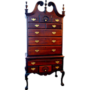 Chippendale Highboy Solid Mahogany Circa 1880