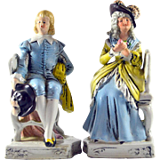 Germany Book Ends Porcelain French Couple