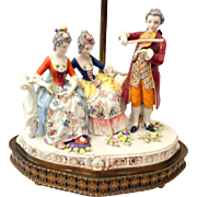 Dresden French Boudoir Lamp Musical Figurines