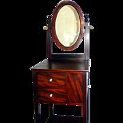 REDUCED Antique Mahogany Shaving Stand Circa 1890