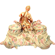 French Inkstand Porcelain