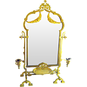 Bronze French Table Top Vanity Mirror 1860