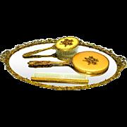 Globe 24K Gold Vanity Dresser Tray Set