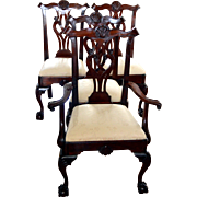 Mahogany Chippendale Philadelphia Style Chairs 4