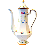 Minton England Coffee Pot Made for Bailey, Banks & Biddle