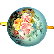 Selb Bavaria Krautheim Victorian Tea Rose Small Bowl Artist Signed