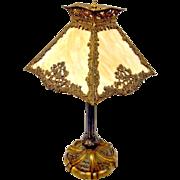 Slag Glass Lamp Art Nouveau Carmel