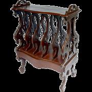19th Century Victorian Mahogany Canterbury Portfolio Stand