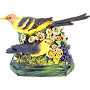 Vintage  Freeman Leidy California Art Pottery Figurine Birds