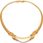REDUCED Napier Pearled Snake Link Collar Necklace