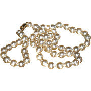 SALE End of Year SALE: Hand Knotted Glass Pearl Necklace