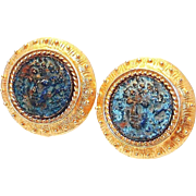 REDUCED Bronze Coin Earrings by New York's Madison Ave. Jaded Company