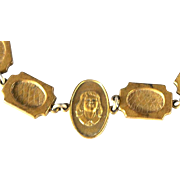 SALE Brass Stamped Cameo Bracelet Part of Our BLOWOUT SALE