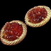 REDUCED Scare Molded Resin Earrings by Schiaparelli