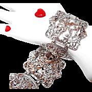 SALE Wide Cherub Angel Bracelet by Coro Pegasus