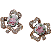 REDUCED Gilloche Three Leaf Clover Scatter Pins