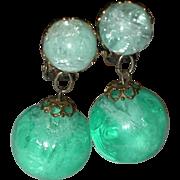 SALE Year End Sale: Green Plastic Bob Earrings - Make an Offer