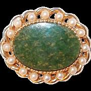 REDUCED Jade and Pearl Marvella Pin