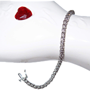 SALE Say 'I Love You' with a Diamond Tennis Bracelet in 10k White Gold