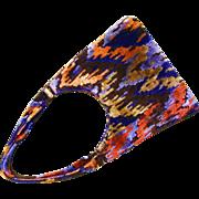 SALE Retro Designer Carpet Bag Purse - See Description for proper coloring