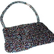 SALE Lovely Go Anywhere Multicolored Hand Beaded Purse