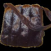 SALE Faux Fur Shoulder Handbag with Original Tag