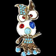 SALE SALE: Colorful Cabochon Enamel Owl Pin