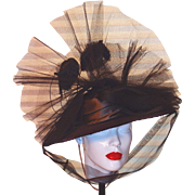 Original Theater Hat from a 1940s by Designer M. Richardson for a Federico Fellini Movie ...