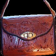 SALE PENDING Quality Tooled Leather Handbag Like New