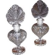 REDUCED Two 40s Duchess Crystal Perfume Bottles 9.5 Inches by Irving Rice