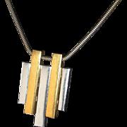 SALE Popular 1970s Avon Mod Pendant Necklace on our Year End SALE