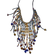SALE Bohemian Glass Seed Bead Bib Necklace in our BLOWOUT SALE