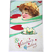SALE Schmucker Valentine Art Nouveau Postcard