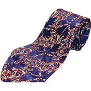 SOLD Vintage Hand Made Necktie by Artcraft, La Sois Royale, Italian Weave Fabric