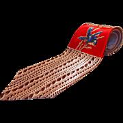 SOLD Sharp 1950s Necktie with Blue Bird