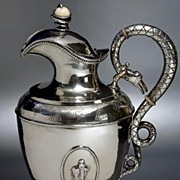 SOLD Antique Russian Baltic Silver Wine Jug 1879