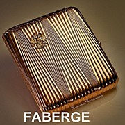 SOLD FABERGE Rose Gold Russian Imperial Presentation Case
