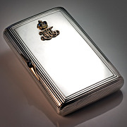 SOLD Faberge Russian  Imperial Presentation Silver Case