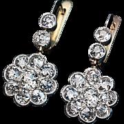 Edwardian Diamond Earrings c. 1910