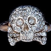 Antique Russian Diamond Skull Ring