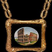 Rare Victorian Roman Micro Mosaic Necklace