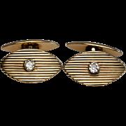 Marchak Antique Diamond 14K Gold Cufflinks