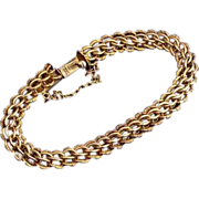 Vintage Russian / Polish Braided Gold Bracelet