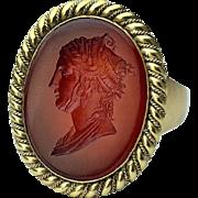 Napoleonic Era Antique Intaglio Signet Ring