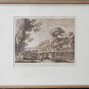 Claude Lorrain & Richard Earlom 'Liber Veritatis' - 'Book of Truth' Sepia Mezzotint - 16