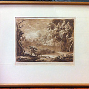 Claude Lorrain & Richard Earlom 'Liber Veritatis' - 'Book of Truth' Sepia Mezzotint - 100
